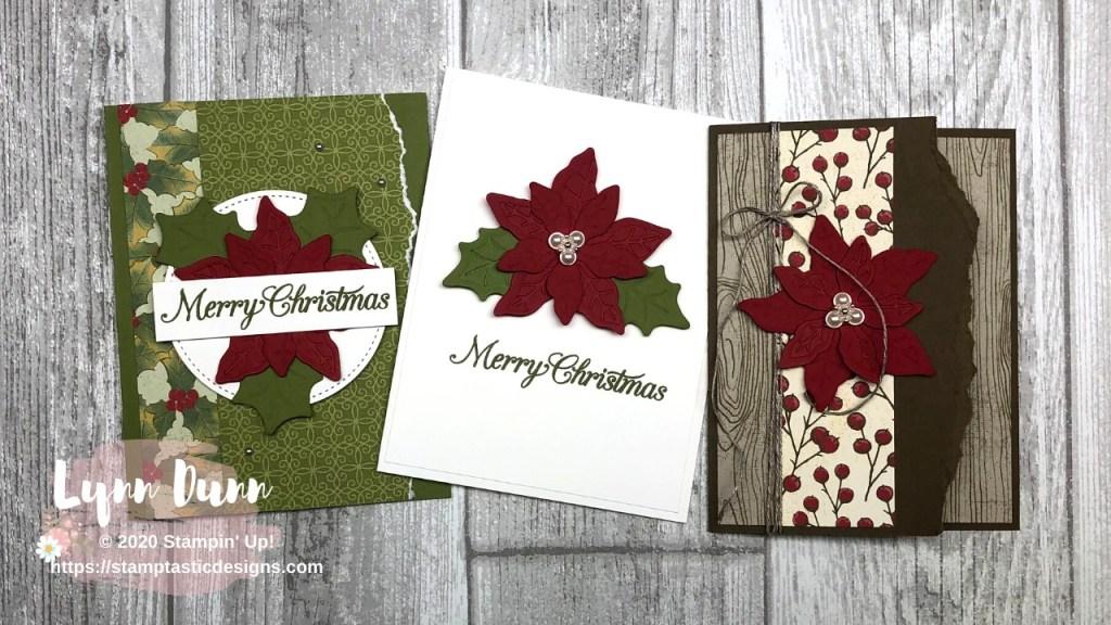 Poinsettia Petals 6 Christmas Card Ideas Lynn Dunn