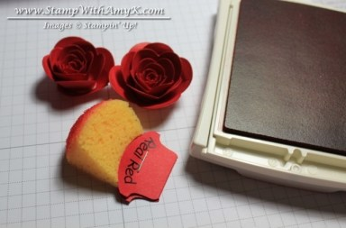 Rolled Rose Tutorial 7 - Stamp With Amy K