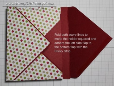 Crayon & Notecard Holder Tutorial 5 - Stamp With Amy K