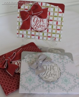 Pop 'n Cuts Gift Card Holders - Stamp With Amy K