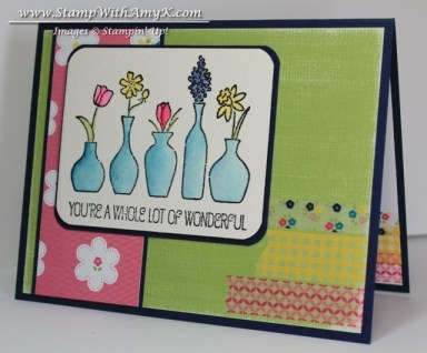Vivid Vases 2 - Stamp With Amy K