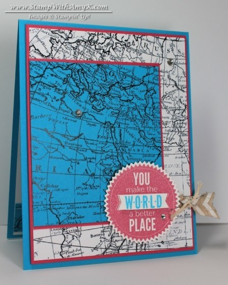 World Map 1 - Stamp With Amy K