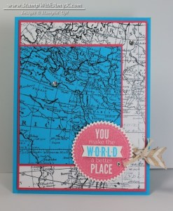 World Map - Stamp With Amy K