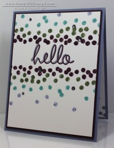 Hi There - Stamp With Amy K