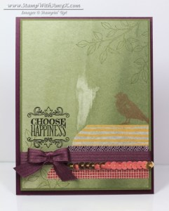 Choose Happiness 1 - Stamp With Amy K