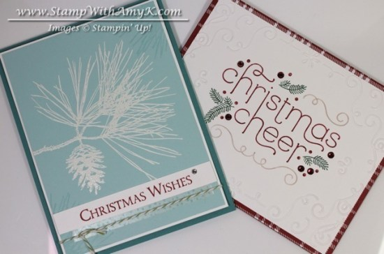 Cheerful Christmas & Ornamental Pine - Stamp With Amy K