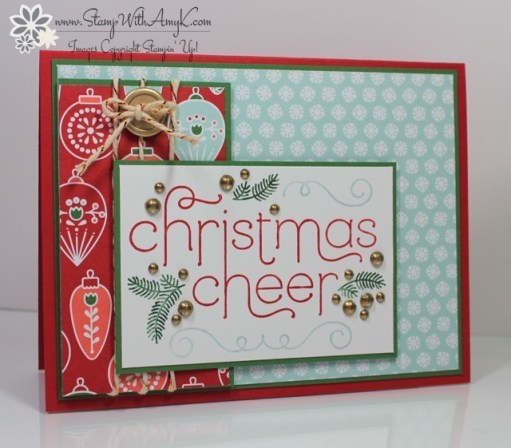 Cheerful Christmas - Stamp With Amy K