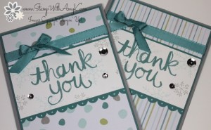 Watercolor Thank You 5 - Stamp With Amy K