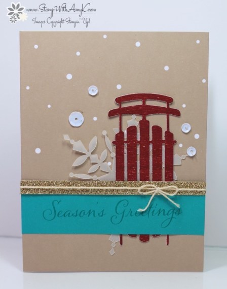 Watercolor Winter Card Kit 2 - Stamp With Amy K