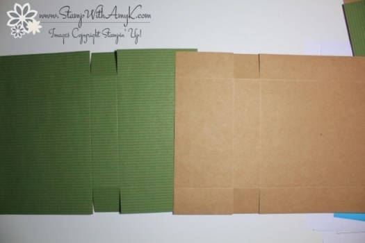 Adjustable Gift Box Tutorial 3 - Stamp With Amy K