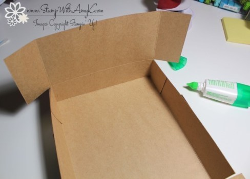 Adjustable Gift Box Tutorial 7 - Stamp With Amy K