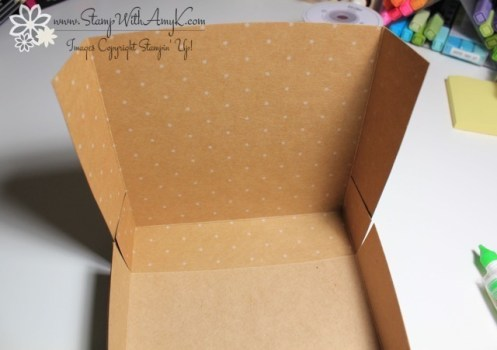 Adjustable Gift Box Tutorial 9 - Stamp With Amy K