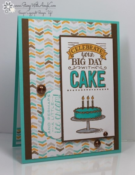 Stampin Up Big Day Masculine Birthday Card Stamp With Amy K