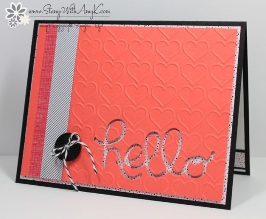 Hello You Thinlits Dies - Stamp With Amy K