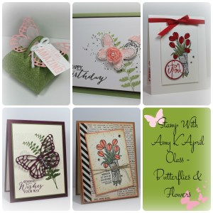 April Card Class Collage