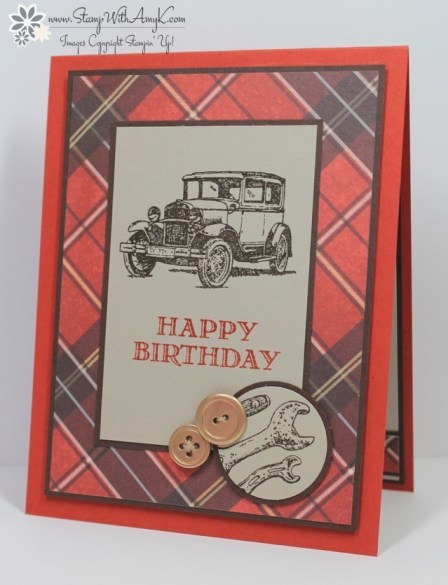 Stampin Up Guy Greetings Happy Birthday Stamp With Amy K