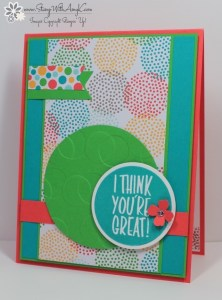 I Think You're Great 1 - Stamp With Amy K