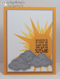 Ray of Sunshine 1 - Stamp With Amy K