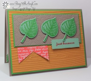Vintage Leaves 1 - Stamp With Amy K.