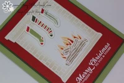 Festive Fireplace 3 - Stamp With Amy K