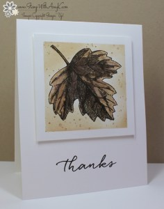 Vintage Leaves 1 - Stamp With Amy K