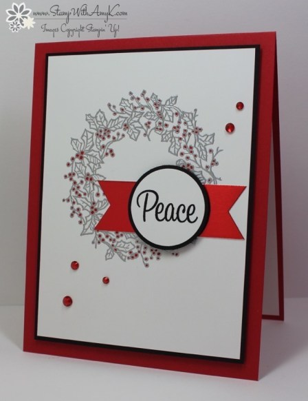 Peaceful Wreath - Stamp With Amy K