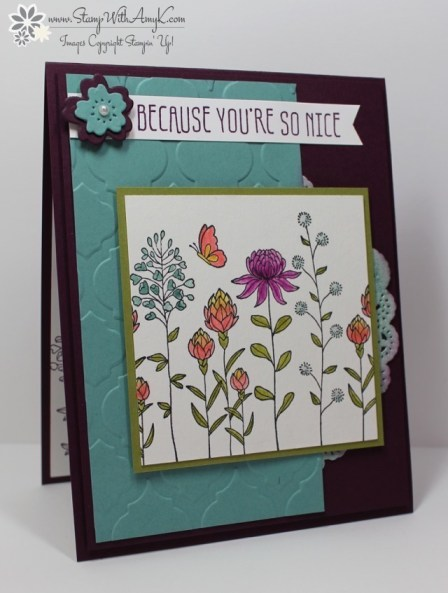 Flowering Fields - Stamp With Amy K
