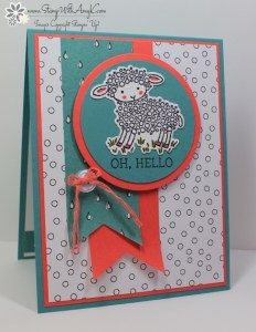 Easter Lamb 2 - Stamp With Amy K