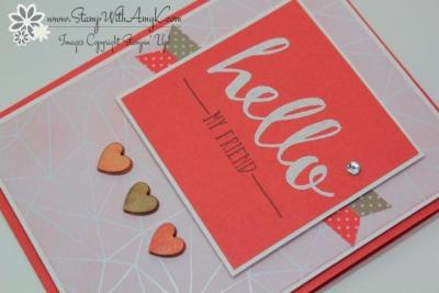 Hello 3 - Stamp With Amy K