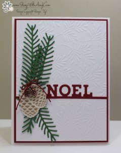 Christmas Pines 1 - Stamp With Amy K