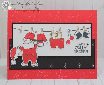 Santa's Suit - Stamp With Amy K