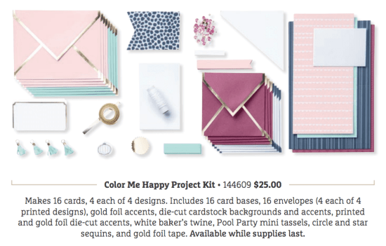 The Color Me Happy Project Kit And Stamp Set Will Be Available While Supplies Last Beginning On November 1 Too