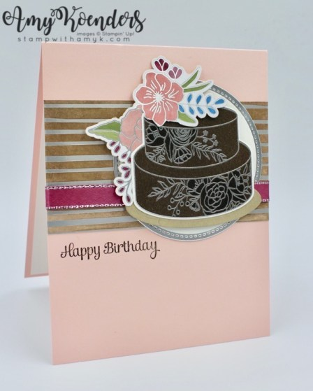 Stampin up cake soiree for the stamp to share international design chip ink pad across a panel of springtime foils specialty dsp sale a bration item available feb 16 and then rubbing the excess ink off with a paper mightylinksfo