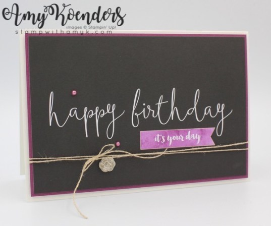 Stampin Up Delightfully Detailed Memories More Birthday Card