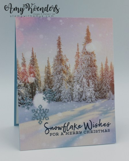 Postage For Christmas Cards 2020 Stampin' Up! Snowflake Wishes CAS Christmas Card For Sunday