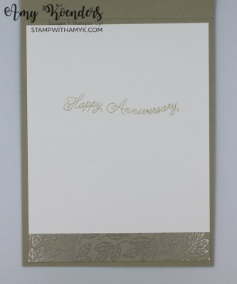 Stampin' Up! Always In My Heart Anniversary Card
