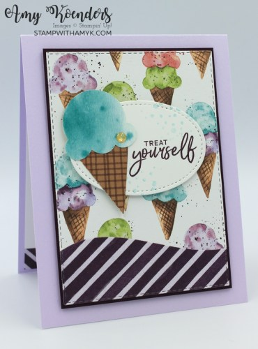 Stampin' Up! Sweet Ice Cream Birthday Card & Mini Pizza Box