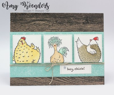 Stampin' Up! Hey Chick Birthday Card