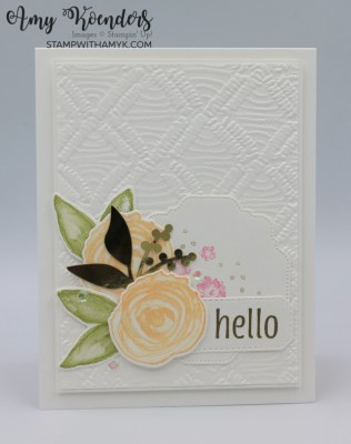 Stampin' Up! Artistically Inked Hello Card