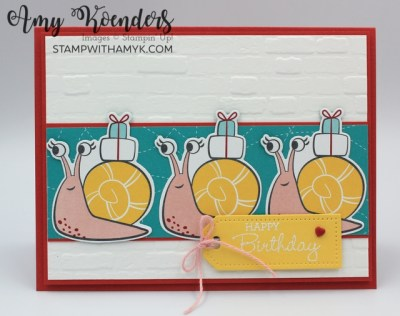 Stampin' Up! Pansy Petals Snail Mail Birthday Card