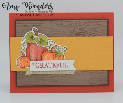 Stampin' Up! Pretty Pumpkins Thank You Card