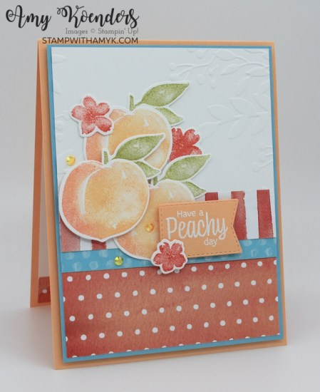Stampin' Up! Sweet As A Peach Peachy Day Card