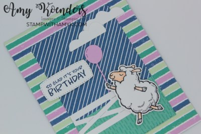 Stampin' Up! Counting Sheep Birthday Card With Sale-a-bration Items