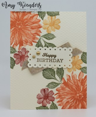 Stampin' Up! Delicate Dahlias Fall Birthday Card