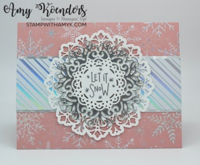 Stampin' Up! Encircled In Warmth Let It Snow Card