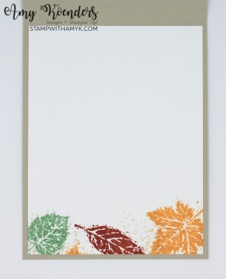 Stampin' Up! Gorgeous Leaves Thinking Of You Card