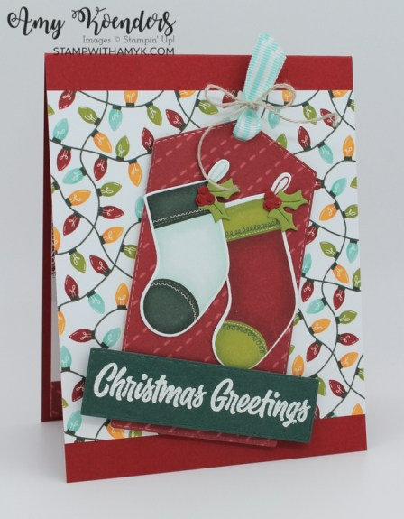 Stampin' Up! Sweet Little Stockings Christmas Card