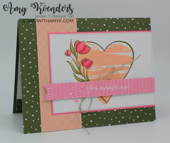 Stampin' Up! Strong Of Heart Amazing Card