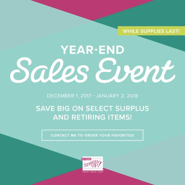 Year End Sale on Retiring Holiday Products along with Extra Annual Catalogue Inventory