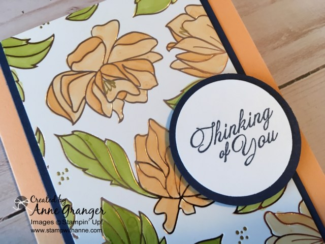 Stampin' Up! Springtime Foil Specially Designer Series Paper. You can earn for free with a $60 order during Sale a Bration promotion